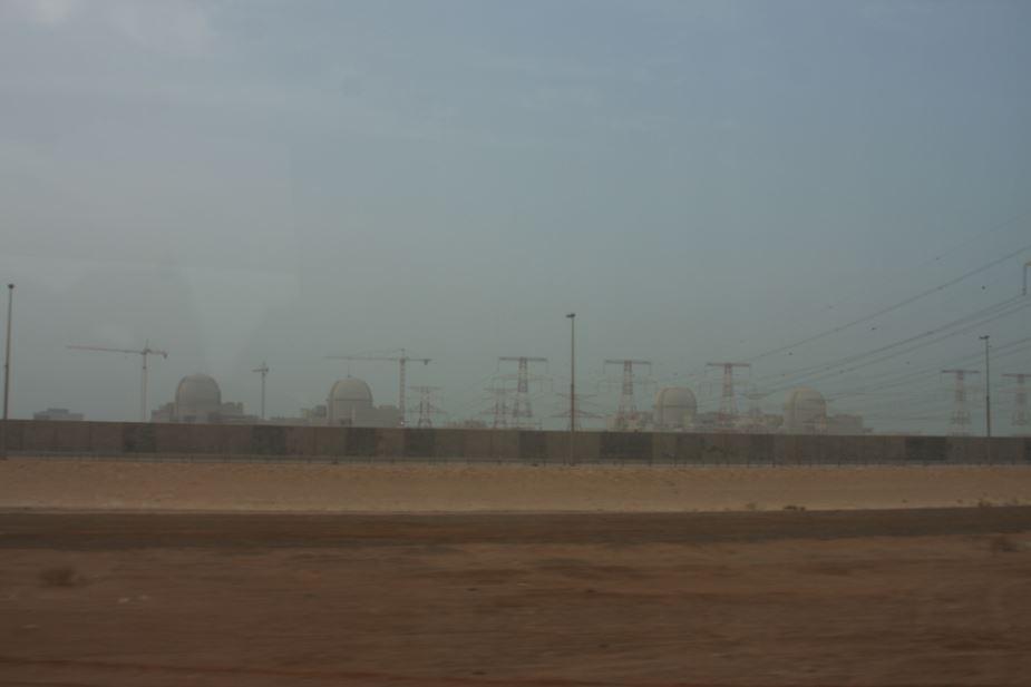 Čtyři bloky v oparu po bouři, jak se vzdalujeme od elektrárny (zdroj Igor Jex)