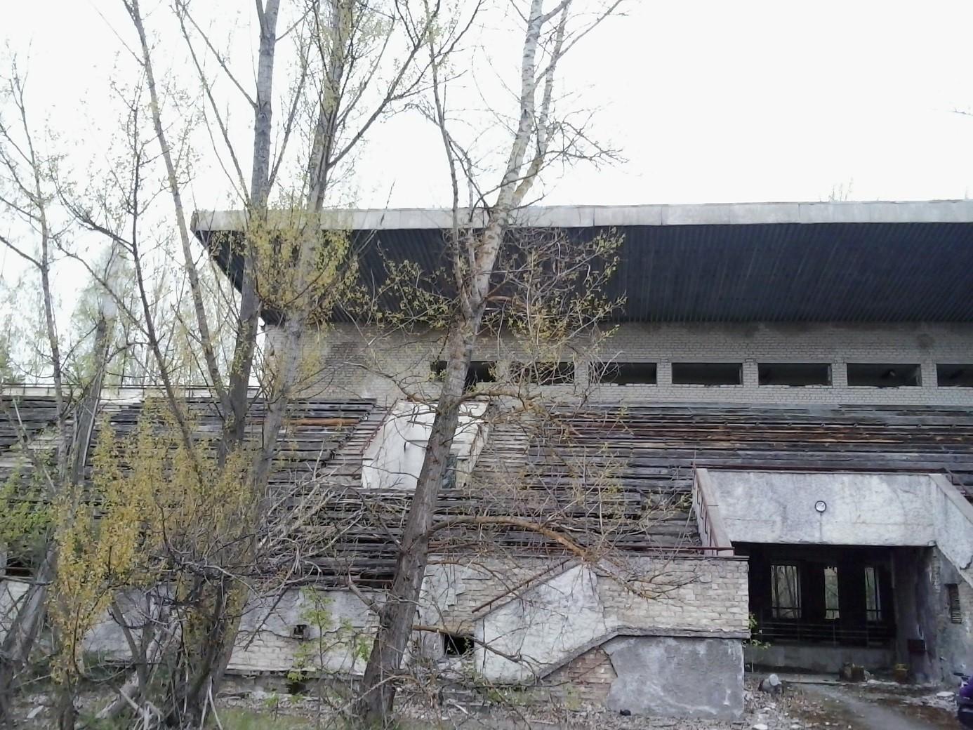 Opuštěný stadion ve městě Pripjať (zdroj Vladimír Wagner).