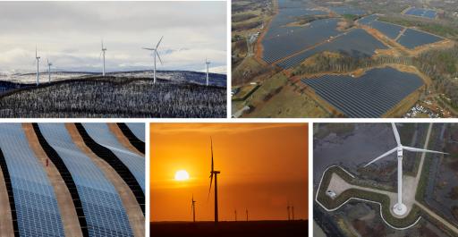 Vybrané projekty OZE, které dodávají energii pro společnost Google. Zdroj: Google