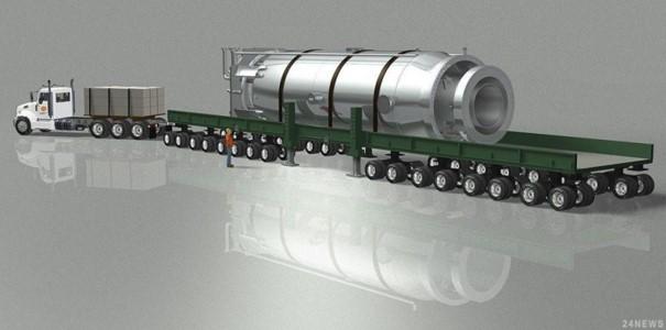 Reaktor NuScale při přepravě (zdroj Nuscale).