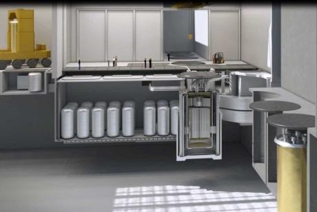 Vizualizace systému IMSR400 společnosti Terrestrial Power