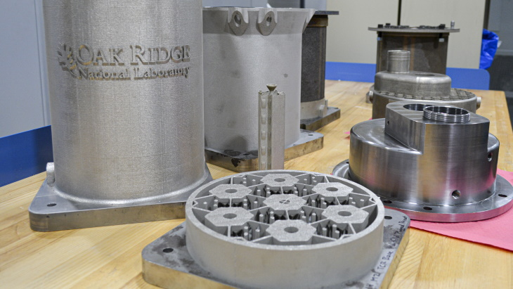 Tištěné komponenty pro prototyp plynem chlazeného reaktoru v Oak Ridge