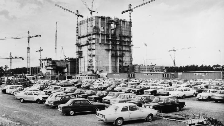 Výstavba prvního bloku jaderné elektrárny Forsmark