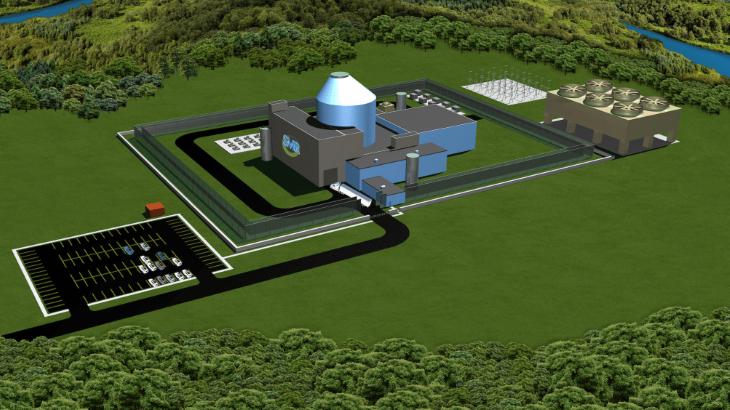 Tlakovodní reaktor SMR160 firmy Holtec (zdroj Holtec)