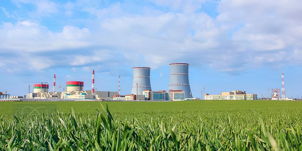 Běloruská jaderná elektrárna Ostrovec (zdroj Rosatom)