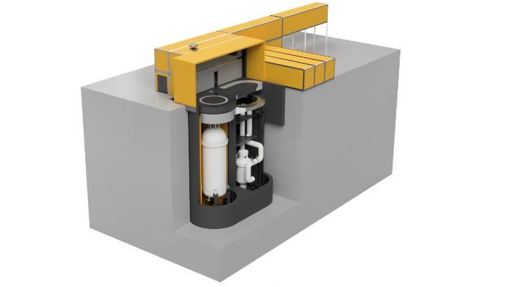 Schéma reaktoru MMR (zdroj Global First Power).