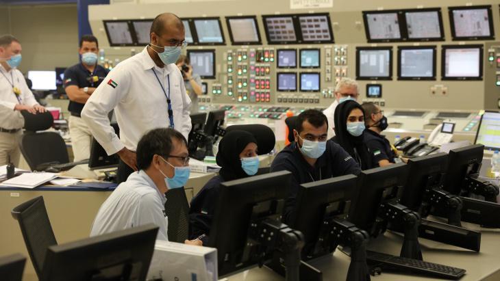 Spuštění prvního bloku jaderné elektrárny Barakah ve Spojených arabských emirátech (zdroj ENEC)