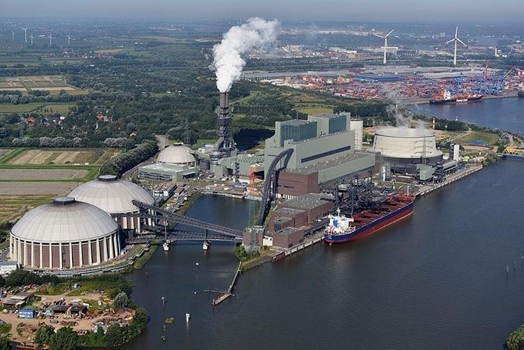 Elektrárna Moorburg (zdroj Vattenfall)